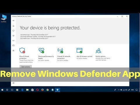 """How to Remove """"Windows Defender Security Center"""" App in Windows 10"""