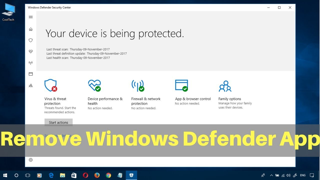 how to remove windows defender completely
