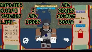 ROBLOX - [UPDATES 0.024] Shinobi Life 🅾️🅰️ - 2 New Codes and - New Series!!