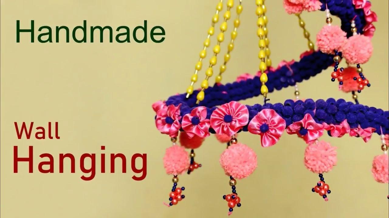 Handmade Wall Hanging craft Idea    Wall Decoration Idea at Home ...