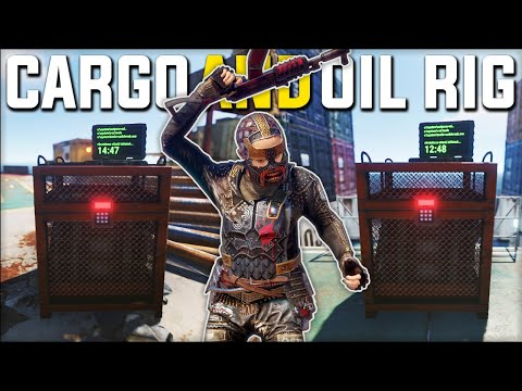 TAKING BOTH RUST CARGO SHIP & RUST OIL RIG LOOT RUN GAVE CRAZY LOOT - Rust Survival Gameplay |S21-E4 thumbnail