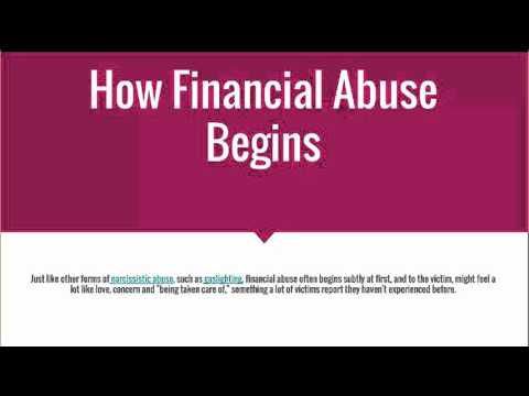 Narcissistic Abuse Recovery: Financial Abuse 101