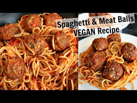 VEGAN SPAGHETTI & MEATBALLS (easy lentil meatballs recipe)