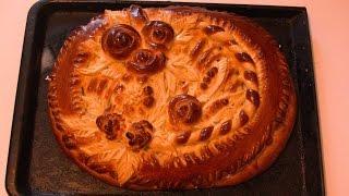 Пирог с яблоками.(Дрожжевое тесто) / Pie with apples. (Yeast dough)