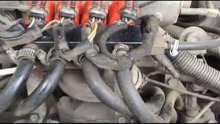 Крепление блока газовых форсунок ГБО  своими руками