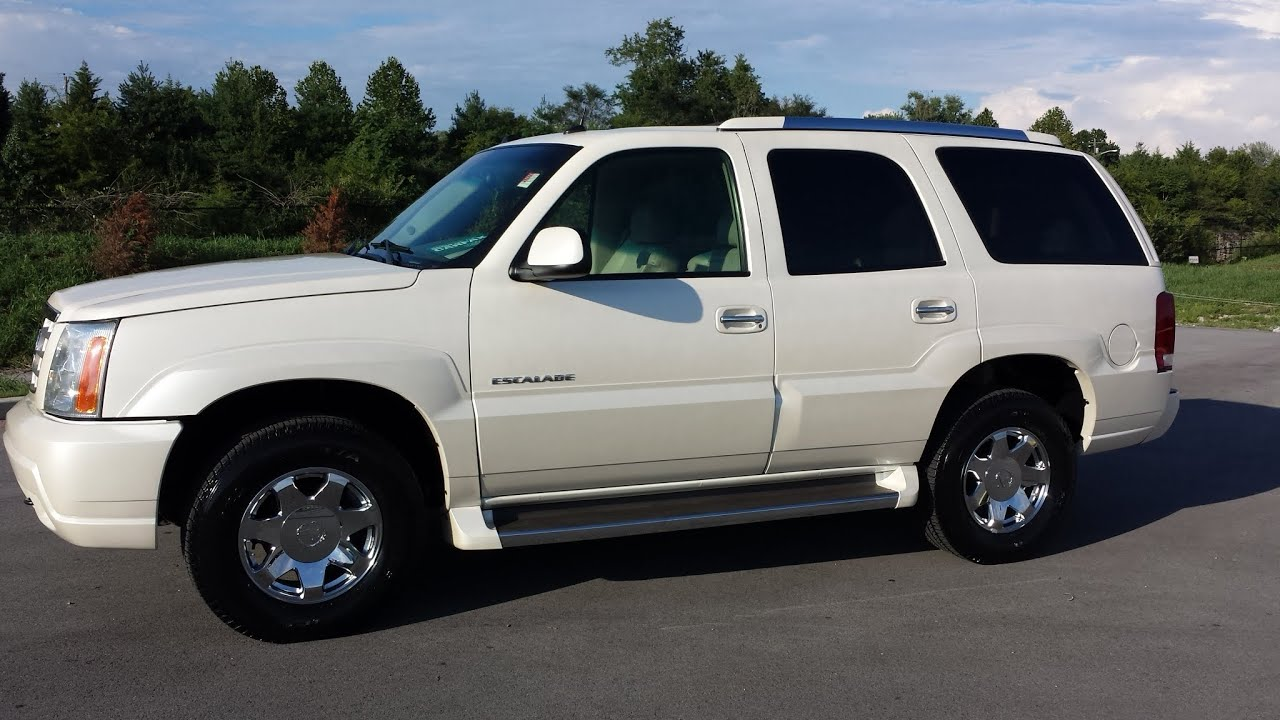 sold.2005 CADILLAC ESCALADE AWD 6.0L V8 WHITE DIAMOND TRICOAT 12OK