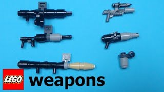 8 simple Lego weapons for your minifigures |LW#1