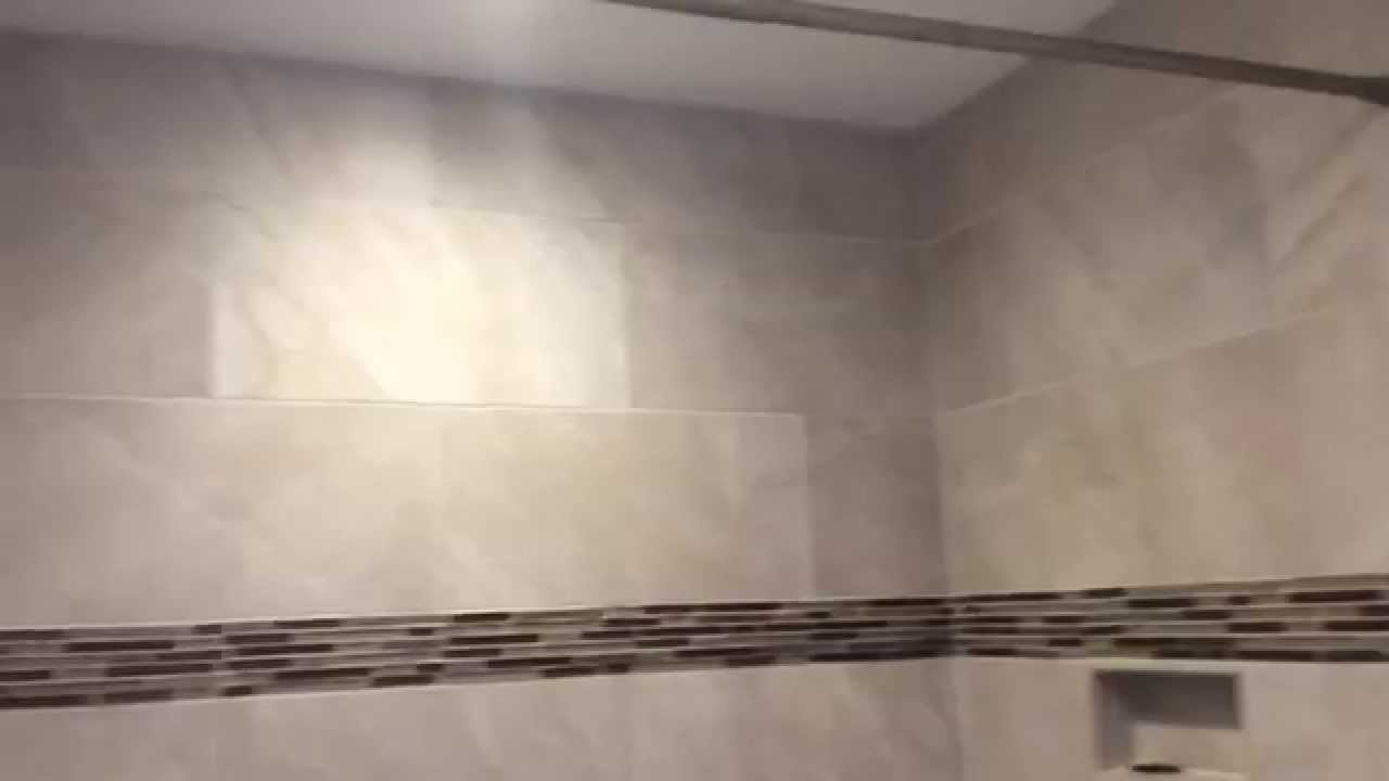 Tile shower great design low cost - YouTube