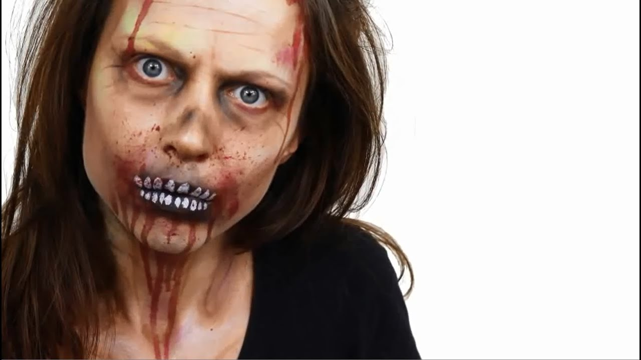 tuto maquillage zombie pour halloween youtube. Black Bedroom Furniture Sets. Home Design Ideas