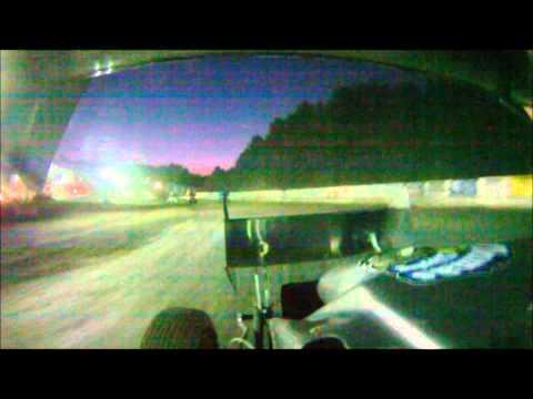 Dan Douville In Car SCoNE Heat + Feature at Bear Ridge Speedway 7-7-2012