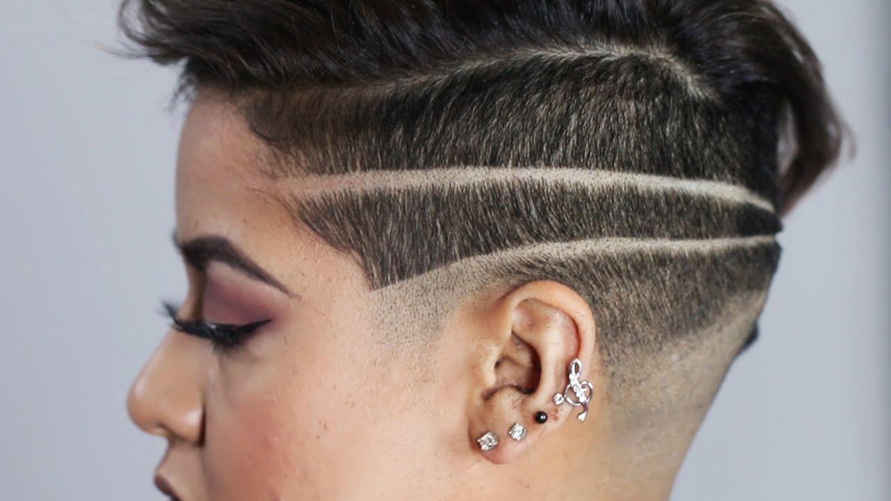 women get badass shaved head designs