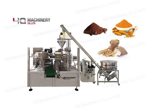 Stand Up Pouch Packaging Machine For  Milk Coffee Flour Powder Dosing Machinery