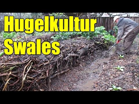 Hugelkultur Swales & Building Up The Mounds