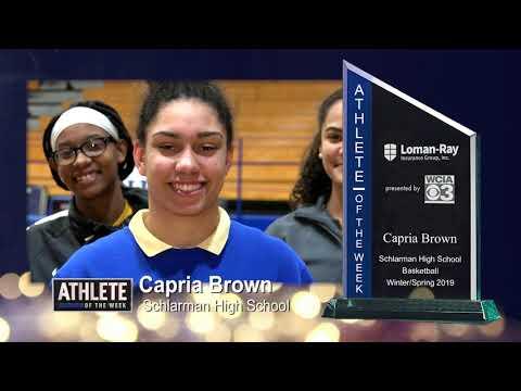Athlete of the Week Capria Brown - Basketball - Schlarman High School