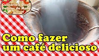 COMO FAZER UM CAFÉ DELICIOSO NO COADOR DE PANO POR MARA CAPRIO