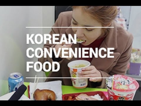 Eating Korean Convenience Store Food - 한국 먹방 | Wishtrend