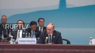 China: Putin notes 'positive dynamics in restoration of global economy' at G20