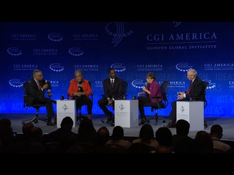 Morning Plenary: Overcoming Poverty: Improving Opportunity - Panel Discussion - CGI America 2016