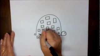 How To Draw A Turtle Step By Step For Beginners Cartoon Tortoise Easy Lesson