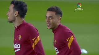 Calentamiento FC Barcelona vs Levante UD