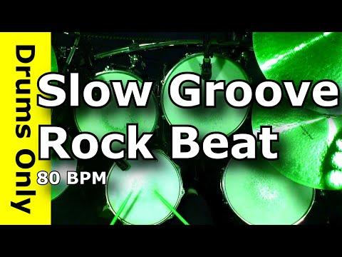Drum Loops - Slow Groove Rock 80 BPM - JimDooley.net