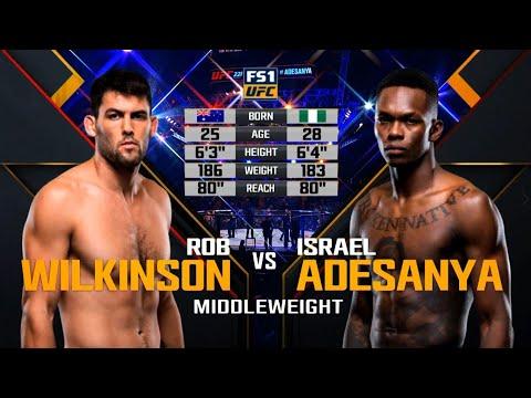 UFC Debut: Israel Adesanya vs Rob Wilkinson   Free Fight