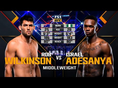 Israel Adesanya vs Rob Wilkinson