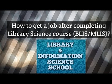 How To Get A Job After Having Library Science Degree?