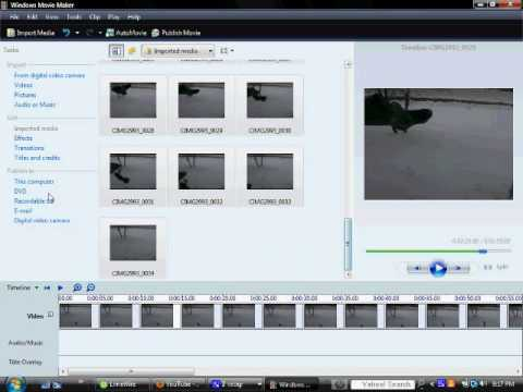 Tutorial; How To Reverse Videos In Windows Movie Maker!