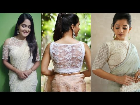 Stylish White net blouse designs 2020 || Off- White Partywear net blouses