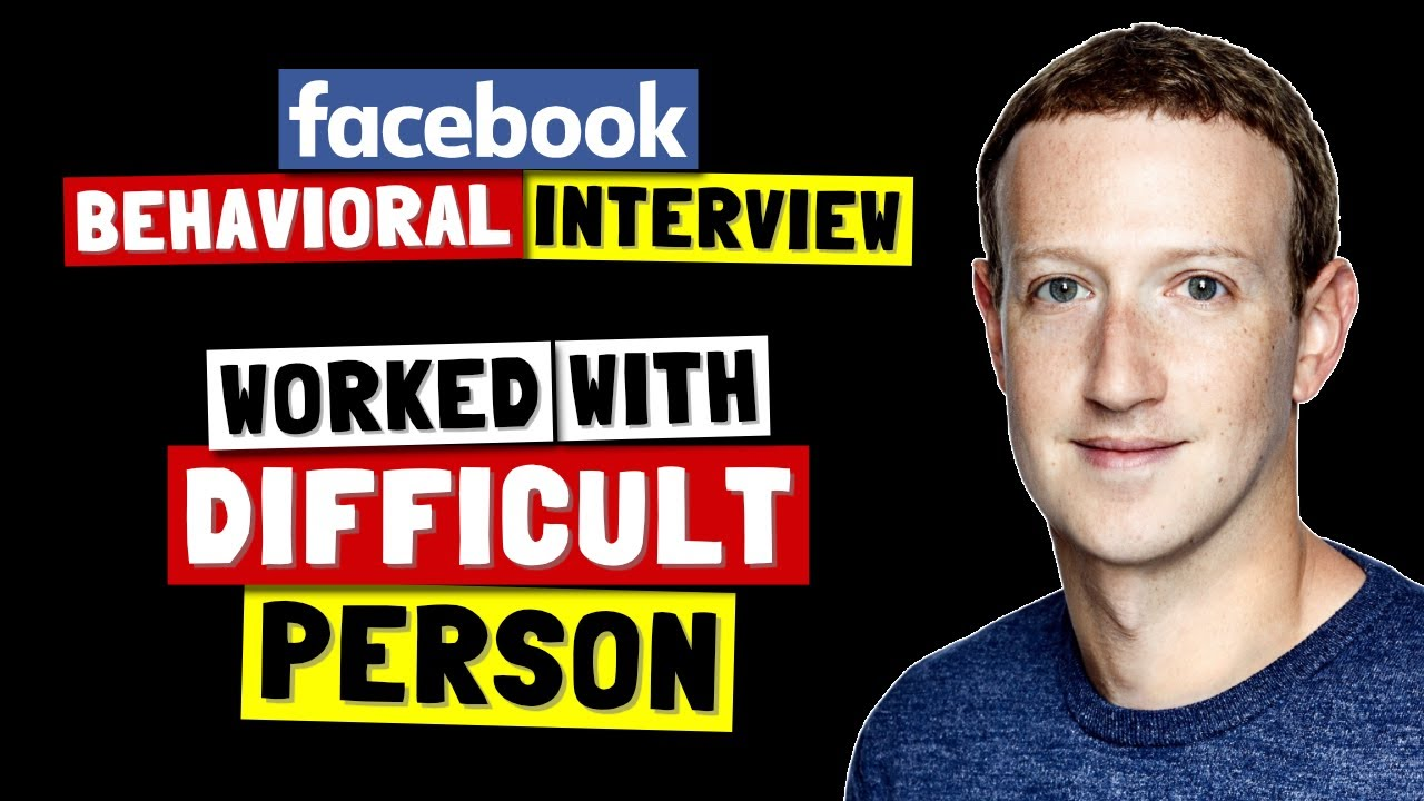 ✅ Tell Me About A Time You Worked With A Difficult Person   Facebook Behavioral Interview (Jedi) Series 🔥