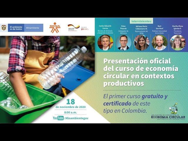 Presentación Curso de Economía Circular en Contextos Productivos