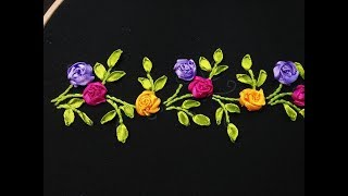 Hand Embroidery - Ribbon Embroidery Hello friends welcome to crafty...