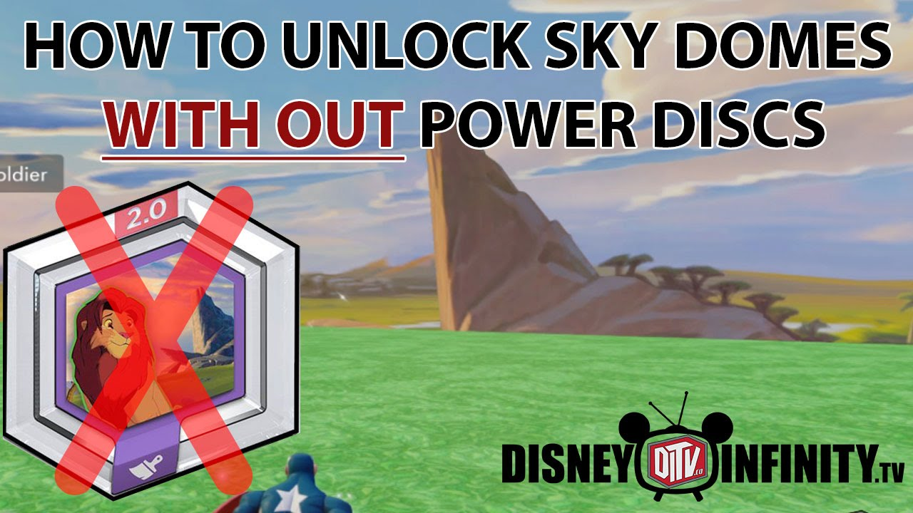 How To Unlock Sky Dome Textures In Disney Infinity 20 With Out
