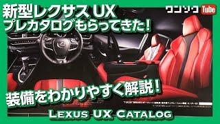【レクサスUXの装備をわかりやすく解説!】プレカタログもらってきた!(LEXUS UX200/UX250h)