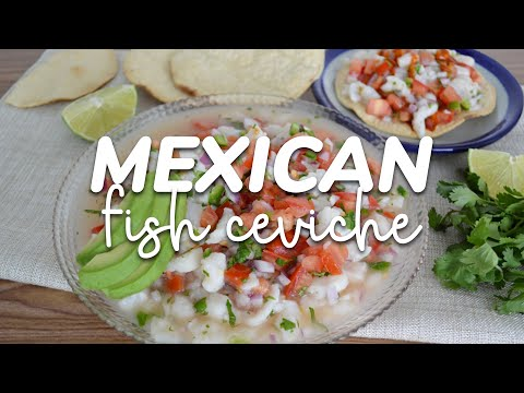The Best Mexican Fish Ceviche (so Easy)