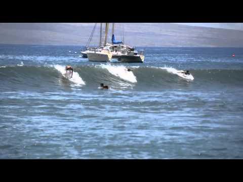 Lahaina harbor surf test (natural sound). Shot with nikon D7100.