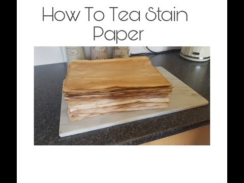 How to Tea Stain Paper - Easy DIY Tutorial