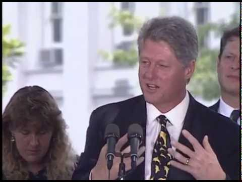 Pres. Clinton Announcing Community Development Banking and Finance Initiative (1993)