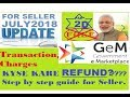 GEM 3.0 II HOW SELLER TAKE REFUND OF TRANSACTION CHARGES II (IN HINDI)