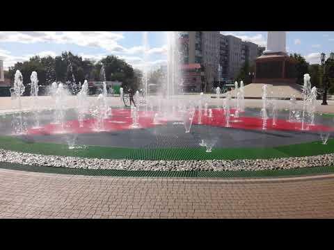 Новый фонтан в Рязани на Московском