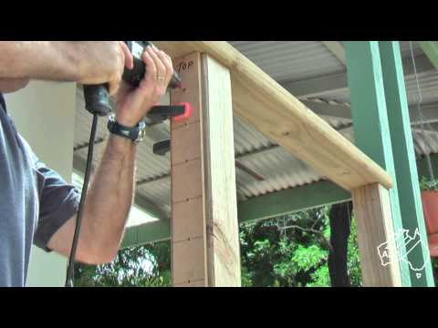 DIY Stainless Steel Wire Balustrade tensioned with timber inserts