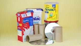 Ideias Decoração de Natal com Material Reciclado