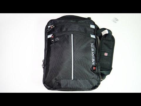 Мужская сумка SwissWin с лямкой через плечо