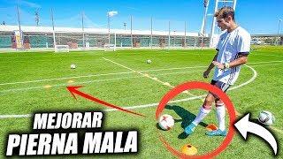 Aprende a mejorar tu pierna mala - como mejorar la pierna mala o no dominante (ejercicios de fútbol)