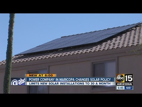 Power company in Maricopa changes solar policy
