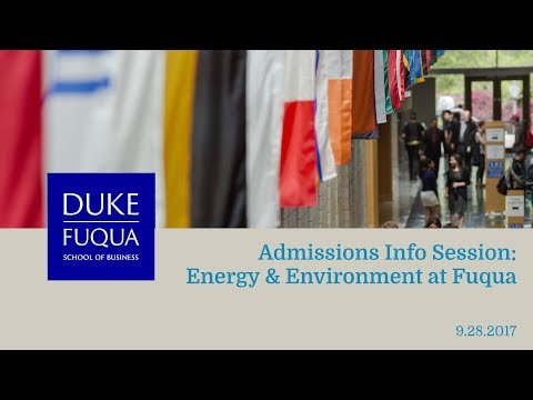 Admissions Info Session: Energy & Environment at Fuqua