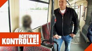 Frecher Fahrgast will Fahrkarte nicht zeigen! Fährt er illegal? | Achtung Kontrolle | Kabel Eins