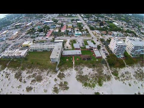 Sea Aire Motel Cocoa Beach Florida Aerial Video Yuneec Q500 Typhoon