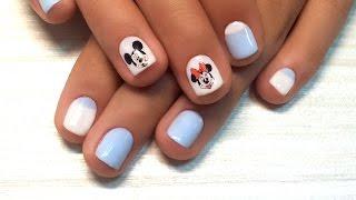 Микки Маус на ногтях (видео уроки дизайна ногтей)
